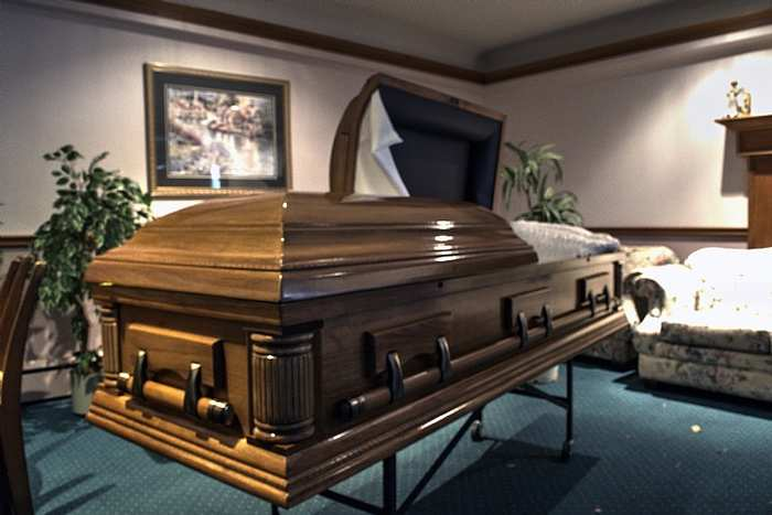 abandoned funeral home coffin Ontario