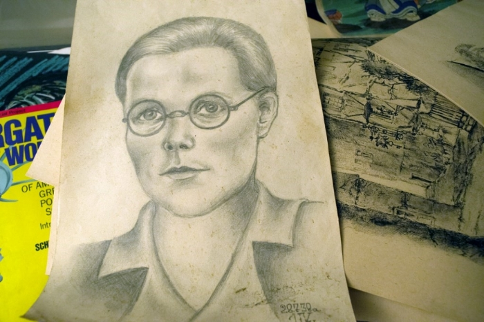 sketch in the Piano Teacher's House - Abandoned ontario time capsule