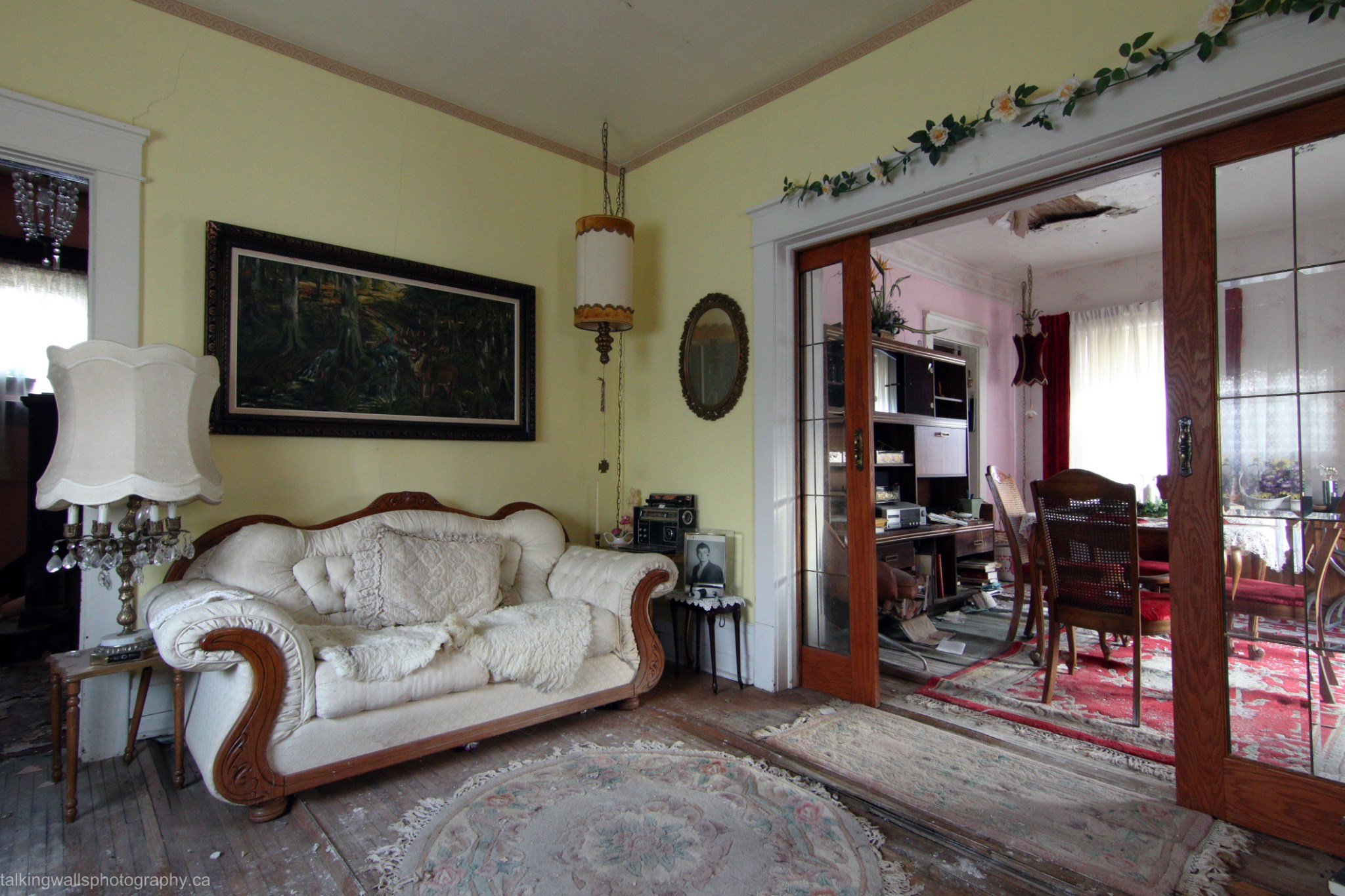 abandoned bed and breakfast time capsule