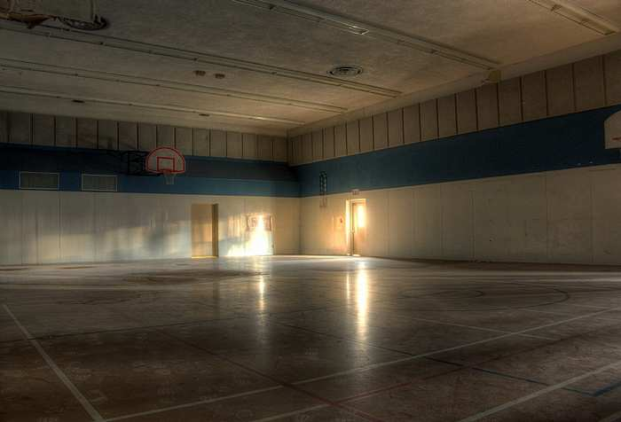 the gymnasium at Bluewater Youth Detention Centre, Goderich. Abandoned ontario