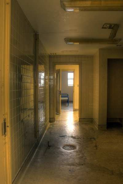 shower area at Bluewater Youth Detention Centre