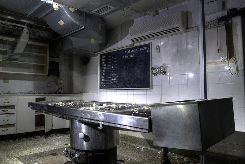 autopsy room in abandoned St. Catharines Hospital
