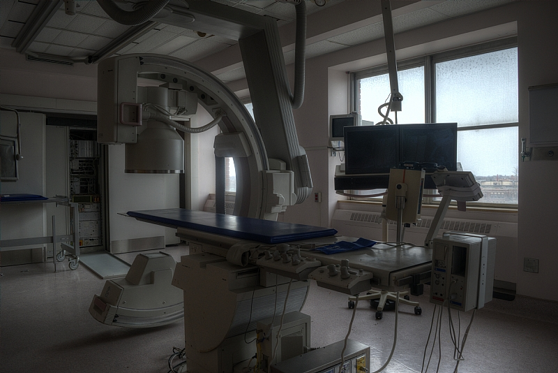 x-ray room of St. Catharines General Hospital