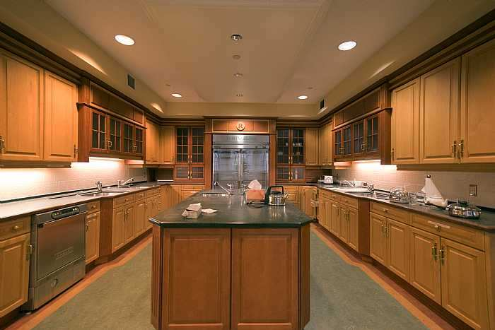 very large kitchen